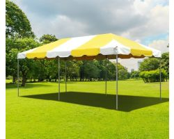 10' X 20' PVC Commercial Steel Frame Tent - Yellow