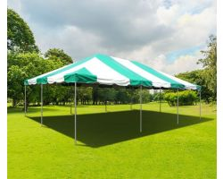 20' X 30' PVC Commercial Steel Frame Tent - Green