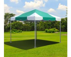 10' X 10' Commercial Aluminum Frame Tent - Green