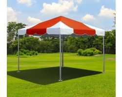 10' X 10' Commercial Aluminum Frame Tent - Red