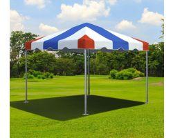 10' X 10' Commercial Aluminum Frame Tent - Red, White, Blue