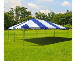 20' X 30' Commercial Aluminum Frame Tent - Blue