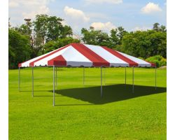 20' X 30' Commercial Aluminum Frame Tent - Red