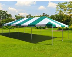 20' X 40' Commercial Aluminum Frame Tent - Green