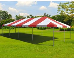 20' X 40' Commercial Aluminum Frame Tent - Red