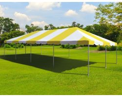 20' X 40' Commercial Aluminum Frame Tent - Yellow
