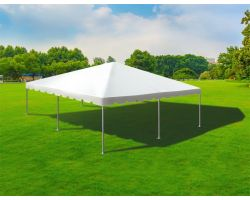 30' X 30' Single Tube Sectional Aluminum Frame Tent - White