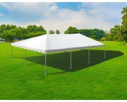 30' X 45' Single Tube Sectional Aluminum Frame Tent - White
