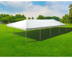30' X 60' Single Tube Sectional Aluminum Frame Tent - White