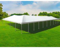 40' X 100' Twin Tube Aluminum Frame Tent - White