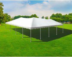 40' X 40' Twin Tube Aluminum Frame Tent - White