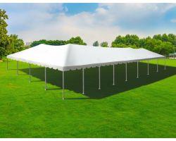 40' X 80' Twin Tube Aluminum Frame Tent - White