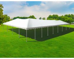 40' X 80' Single Tube Sectional Aluminum Frame Tent - White