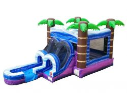 Inflatable Bounce House with Slide, Tropical