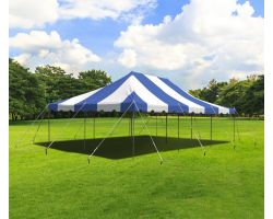 20' X 30' Commercial Steel Pole Tent - Blue