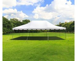 20' X 30' Commercial Steel Pole Tent - White