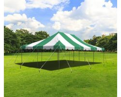 20' X 30' Commercial Steel Pole Tent - Green