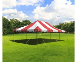 20' X 30' Commercial Steel Pole Tent - Red
