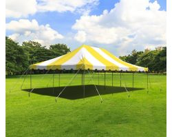 20' X 30' Commercial Steel Pole Tent - Yellow