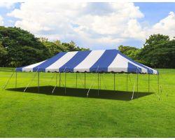 20' X 40' Commercial Steel Pole Tent - Blue