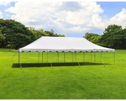 20' X 40' Commercial Steel Pole Tent - White