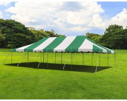 20' X 40' Commercial Steel Pole Tent - Green