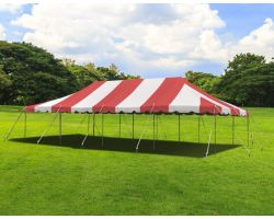 20' X 40' Commercial Steel Pole Tent - Red