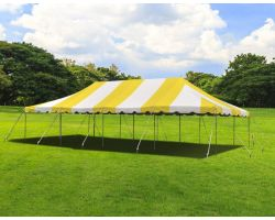 20' X 40' Commercial Steel Pole Tent - Yellow