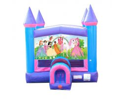 Modular Inflatable Bounce House, Pink Princess