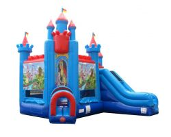 Deluxe Inflatable Bounce House with Slide, Brave Knight