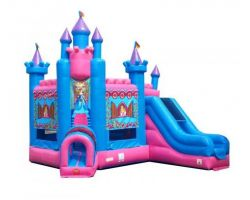 Deluxe Inflatable Bounce House with Slide, Princess